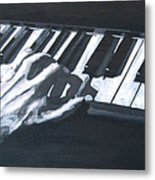 Piano Hands Plus Metronome Metal Print