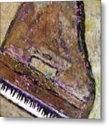 Piano In Bronze Metal Print