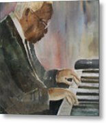 Piano Jazz Metal Print