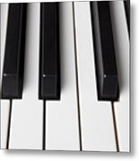Piano Keys Close Up Metal Print