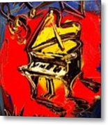 Piano Music Jazz Metal Print