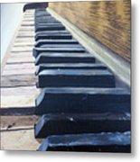Piano Perspective Metal Print