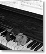 Piano Rose Metal Print