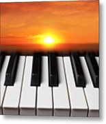 Piano Sunset Metal Print