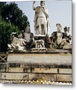 Piazza Del Popolo Fountain Metal Print