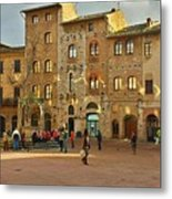 Piazza Della Cisterna Metal Print