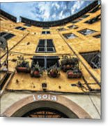 Piazza Dell'anfiteatro, Lucca, Italy Metal Print