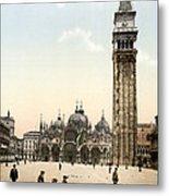 Piazza San Marco, 1890s Metal Print