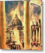 Piazza San Pietro In Roma Italy Metal Print