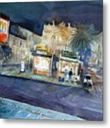 piazza Stesicoro at night Metal Print