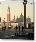 Piazzetta San Marco In Venice In The Morning Metal Print