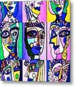 Picasso Blue Women Metal Print by Sandra Silberzweig