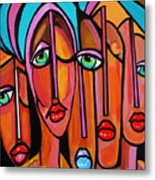 Picasso By Nora  Four Eyes Metal Print