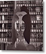 Picasso Chicago Bw Metal Print
