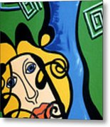 Picasso Influence With A Greek Twist Metal Print