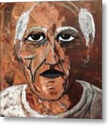 Picasso The Bull In Winter Metal Print