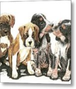 Pick Of The Litter Metal Print