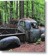 Pick Up Truck In The Woods Metal Print