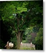 Picket Fence Mailbox Metal Print