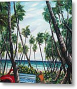 Picking Coconuts .. Mayaro Metal Print