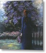 Picking Lilacs Metal Print