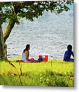 Picnic And Fishing Metal Print