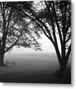 Picnic In The Fog Metal Print