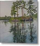 Picnic Island At Dawn Metal Print