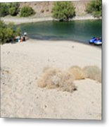 Picnic On Lake Mohave Metal Print