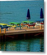 Picnic On The Water Metal Print