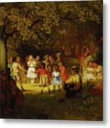 Picnic Party In The Woods Metal Print