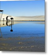Picnic Reflections-one Metal Print