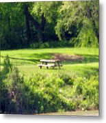 Picnic Table Metal Print