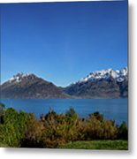 Picnic Table With A View Metal Print