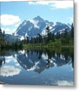 Picture Lake Metal Print