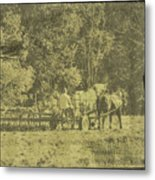 Picture Of Amish Boy In Book Metal Print