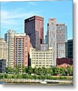 Picture Perfect Pittsburgh Panoramic Metal Print