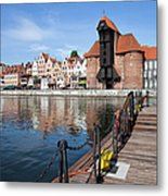 Picturesque City Of Gdansk In Poland Metal Print
