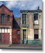 Picturesque Derelict Houses In Hull England Metal Print