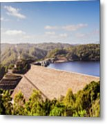 Picturesque Hydroelectric Dam Metal Print