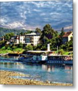 Picturesque River Cruise Metal Print