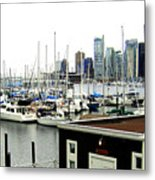 Picturesque Vancouver Harbor Metal Print