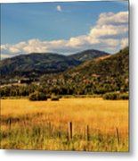 Picturesque View Of Steamboat Springs Colorado Metal Print