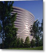 Corporate Woods Pie Building Metal Print