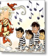 Pied Piper Trump And Infestation Metal Print