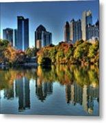Piedmont Park Atlanta City View Metal Print