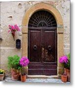 Pienza Doorway Metal Print