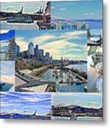 Pier 66 Collage Metal Print