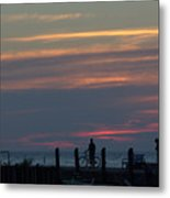 Pier A Long Way Out 4 Metal Print