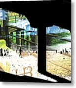 Pier Abstract Metal Print